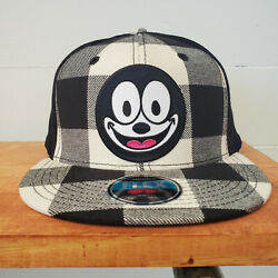 Felix The Cat Embroidered Patch Vintage Style Black And White Trucker Hat