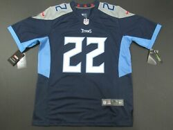 New Derrick Henry 22 Tennessee Titans Game Limited Menand039s Jersey Navy