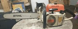 Vintage Collectible Stihl 041 Farmboss Chainsaw With New 16 Bar Chain Clean