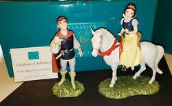 Wdcc Snow White And And Away To His Castle Weandrsquoll Go To Be Happy Forever Mib