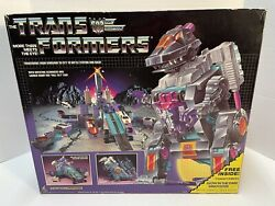 Transformers G1 Trypticon 1986 - 100 Complete Box, Weapons, And Instructions