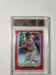 2019 Bowman Sterling Pete Alonso Bgs9.5 Red Refractor Autograph Rare 4/5