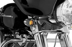 Arlen Ness Deep Cut Turn Signals With Fire Ring Led - Amber Lens - Black 12-753