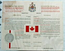 1965 Reproduction Print Of Canada's Official Flag Proclamation See Note Below