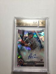 2019 Bowmanand039s Best Pete Alonso Bgs9.5 Atomic Refractor Autograph 1/25 Rare