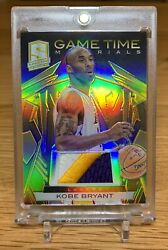 2013-14 Spectra Gold Prizm Game Time Materials Prime Patch Kobe Bryant - 01/10