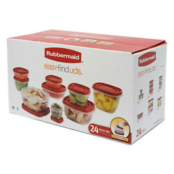 Rubbermaid Food Storage Containers With Easy Find Lids 24-piece Set