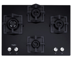 Black Home And Kitchenware Whirlpool Brass Hob 3 Burner Auto Ignition Gas Stove