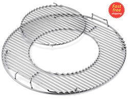 Grill Round Cooking Grate Grid 21.5 Stainless Steel For Weber Charcoal Grills