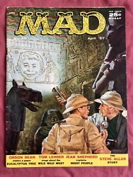 Mad Magazine 32 1957 Famous Issue With Tom Lehrer, Jean Shepherd, More - Fine