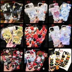 3d Cartoon Cream Phone Case Sparkly Girly Soft Women Protective Cover For Women