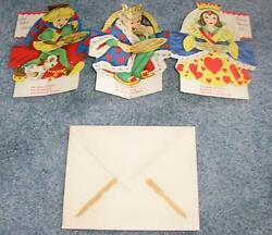 Vintage Queen King Knave Hearts Pastry Tarts Puppg Dog Greeting Card Art Print