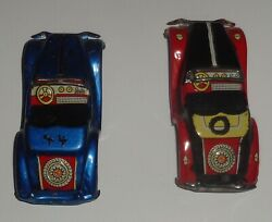 Friction Toy Tin Litho Mg Friction Cars 2 Mg Part Cars 1960and039s Japanese