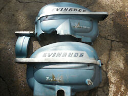 1950's Evinrude 25hp Big Twin Cowl Cover Shroud Hood Boat Motor Outboard