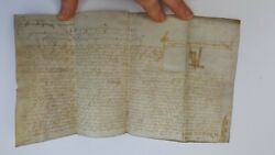 Notice Of Infeudation, Dated And Signed 1600 On Parchment. By Makesonne, John