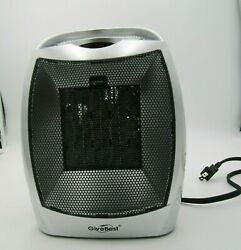 Portable Ceramic Space Heater Adjustable Thermostat Ptc-905 750w To 1500w