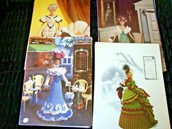 Annie's Calendar Bed Doll Society- Crochet Patterns - Elegant Gowns - Lot Of 25+