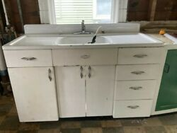 Vintage Youngstown Kitchen By Mullins Metal Cabinet And Sink