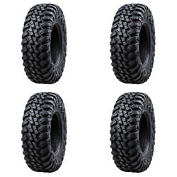4 Pack Tusk Aramid Terrabite® 10 Ply Tire 32x10-15 For Yamaha Grizzly 660 4x4