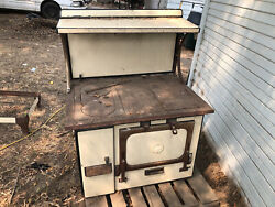 Restorable Antique Wood Burning Cook Stove. Collectable Malleable Iron Range Coandnbsp