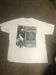 Ny Yankees Starter Brand Division New Champs Xl Mlb Tee From 1996.