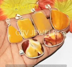 1000pcs Natural Mookaite Gemstone Bezel Pendant Lot 925 Silver Plated Wh-72