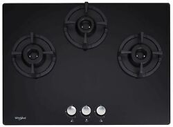 Home And Kitchenware Whirlpool Brass Hob 3 Burner Auto Ignition Gas Stove Black