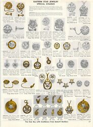 1964 Vintage Ad Order Of The Eastern Star Jewelry Rings Special Charms Gold