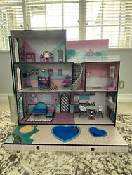 Lol Surprise Omg House Real Wood Doll House W/accessories