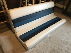 Wise Deluxe 55 Pontoon Bench Seat Cushions With Mounting Hardware