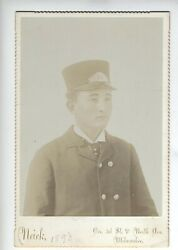 1893 Original Chinese Railroad Conductor Cabinet Card Milwaukee Wisconsin
