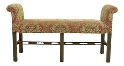 33055ec Ardley Hall Chippendale Style Upholstered Window Bench