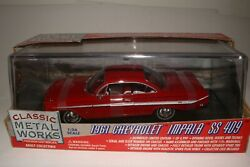 Classic Metal Works 1961 Chevrolet Impala Ss 409 Roman Red 1/24 Scale