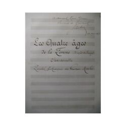 Roche Gustave The Four Ages Of Ladies Manuscript Singer Piano 1877 Sheet Music S