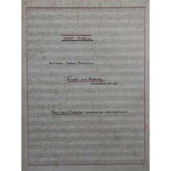 Rummel Walter Nymphs And Shepherds Purcell Manuscript Orchestra Sheet Music M