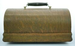 Edison Or Columbia Cylinder Phonograph Oak Lid Only