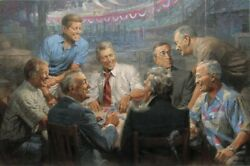 Andy Thomas Big Dawgs Playinand039 Poker-true Blues Tribute Edition Canvas Giclee