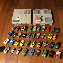 Vtg 80s 90s Micro Machinesmini Cars Airplanes Army Tank Truck Toy Lot