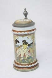 Mettlach Villeroy And Boch Beer Stein Etched Tales Of Brothers Grimm Fairy Tales