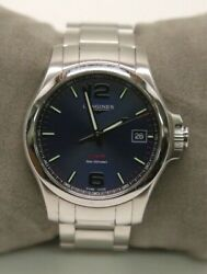 Longines Conquest Vhp Menand039s Quartz Blue Dial Stainless Steel Watch - L3.716.4