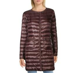 Herno Womens Purple Quilted Lightweight Cold Weather Coat Outerwear 42 Bhfo 2327