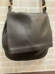Delvaux One Shoulder Bag Brown Hardware Leather Gold Discontinued Unused Rare