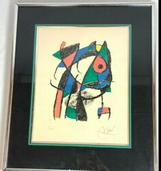 """Joan Miro Rare Hand Signed And Numbered """"lithograph Ii"""" - 1975 10/80 Must See"""