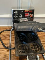 Carbon's Golden Malted Commercial X4 Mini Waffle Maker - Rugged Xii Cast Iron