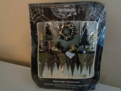Pier 1 Imports Black Magic Mantel Scarf 63ft X 32innew In Packagedisplay