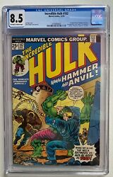 Incredible Hulk 182 Cgc 8.5 Vf+ 3rd Wolverine Appearance 1st Hammer And Anvil