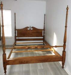 Ethan Allen Heirloom Tall Poster Bed Queen 10-5622-211 Vintage Rare