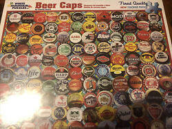 White Mountain Beer Bottle Caps 550 Piece Puzzle [new]