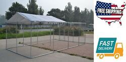 House Outdoor Backyard Dog Kennel Pet Pen Chain Link Fence House Large Cage Fit