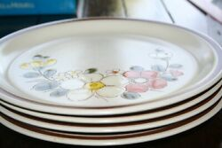 Set Of 4 The Woodhaven Collection Stoneware Dinner Plates Sunny Brook Japan